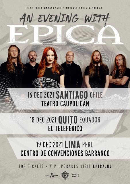 Epica tour Latinoamerica 2021
