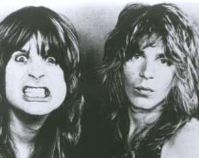 Ozzy Osbourne and Randy Rhoads